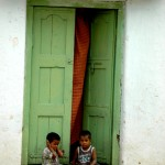 Children at the doorstep